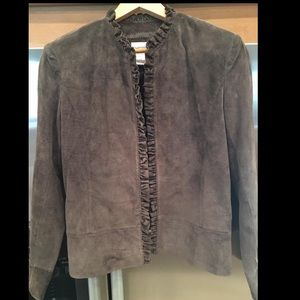 Chico's chocolate brown suede jacket